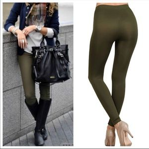 💃🏻Olive fleece contouring leggings